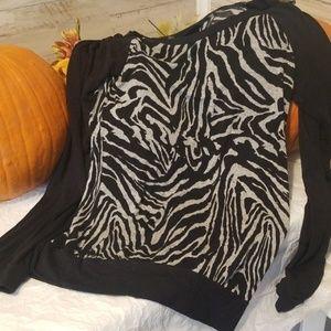 Women's rue 21 zebra shirt